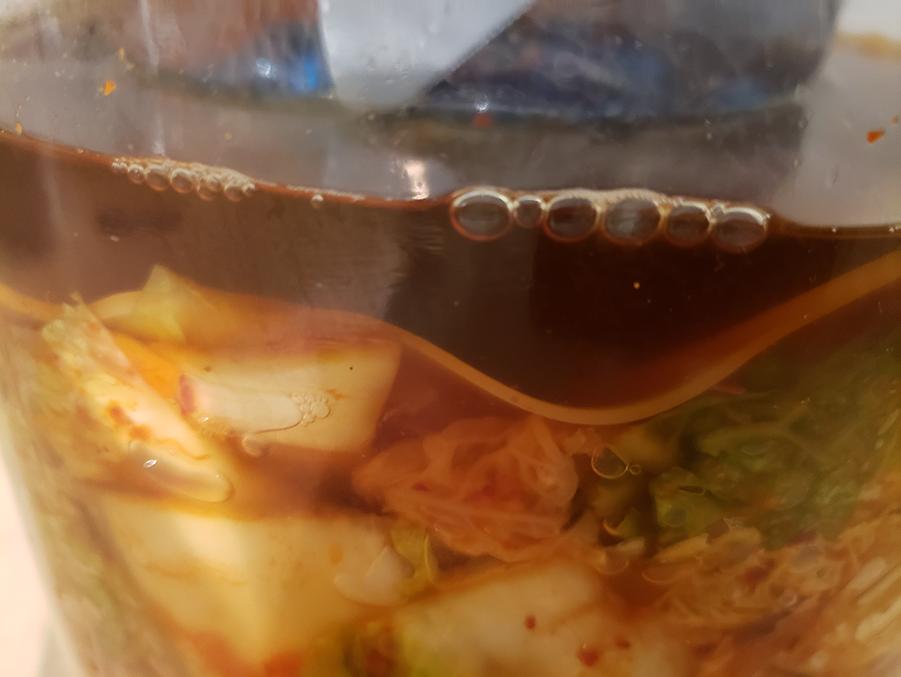 Bubbles during fermentation